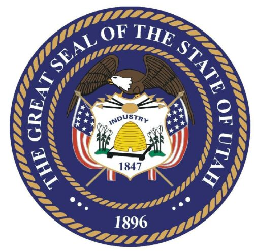 Utah State Seal Sticker MADE IN THE USA R561