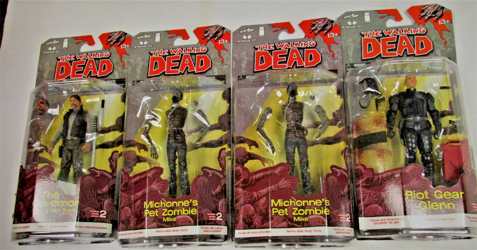WALKING DEAD ACTION FIGURE LOT- SERIES 2, 3, 4, 5; & 2 ZOMBIE ITEMS / FREE SHIP