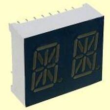 5 pcs. PDA54-11SRWA  Kingbright  2-Digit alphanumerische LED-Anzeige CA rot  NEW