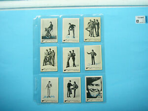 SET-55-1967-RAYBERT-PRODUCTIONS-INC-A-amp-BC-GUM-B-amp-W-MONKEES-TRADING-CARDS-NICE