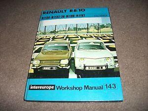 rare 1962 intereurope renault r8 10 workshop manual 143 1130 1132 rh ebay co uk Renault Dauphine Renault R31
