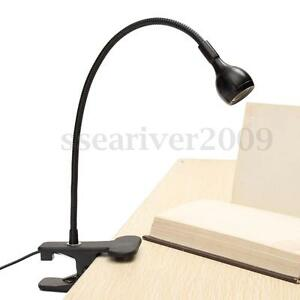usb rechargeable led light clip on bed table desk study reading lamp. Black Bedroom Furniture Sets. Home Design Ideas
