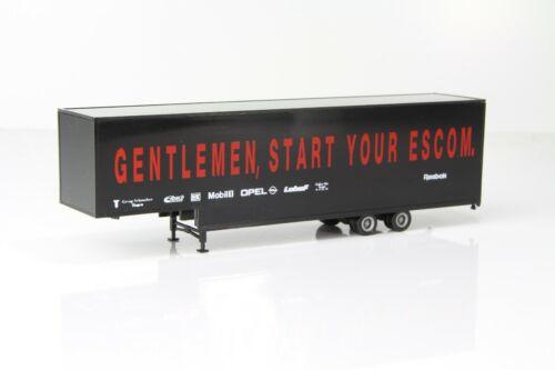 """start your Escom/""""  //H2797-2 Herpa Kofferauflieger gekröpft schwarz """"Gentlemen"""