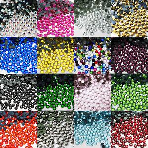 1000-STRASS-Cristal-Thermocollant-Diamant-Dos-Plat-Tissu-Decoration-Artisanat