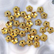 50 Antique Silver Tone Bead Cap 10mm Flower Findings//Beading//DIY Craft//Trim JF3