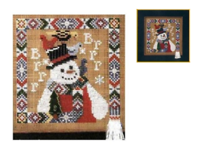 MILL HILL Buttons Beads Kit Counted Cross Stitch BRRR Snowman MHCB148A