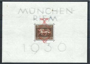 Allemagne-Bloc-N-7-MNH-1937-Courses-de-chevaux