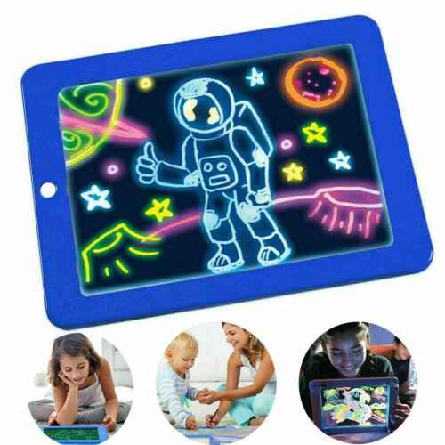 2019  Heiß  Malen  Lernspielzeug  Malen  LED  Pad  für  Kinder Blau