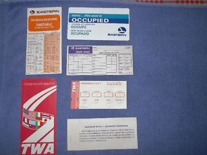 Vintage Twa Eastern Airlines Lot Boarding Pass Timetable Jacket