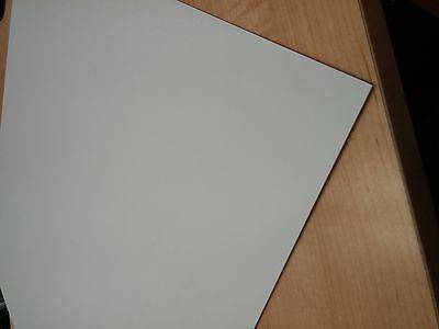 """Gloss White Painted Aluminum Sheet .040 24/"""" x 48/"""""""