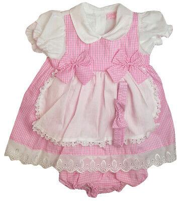 Girls BNWT Pink Summer Dress Spanish