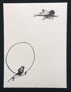 Hyun-sook canzone, infanzia, litografia, 1983, firmato a mano