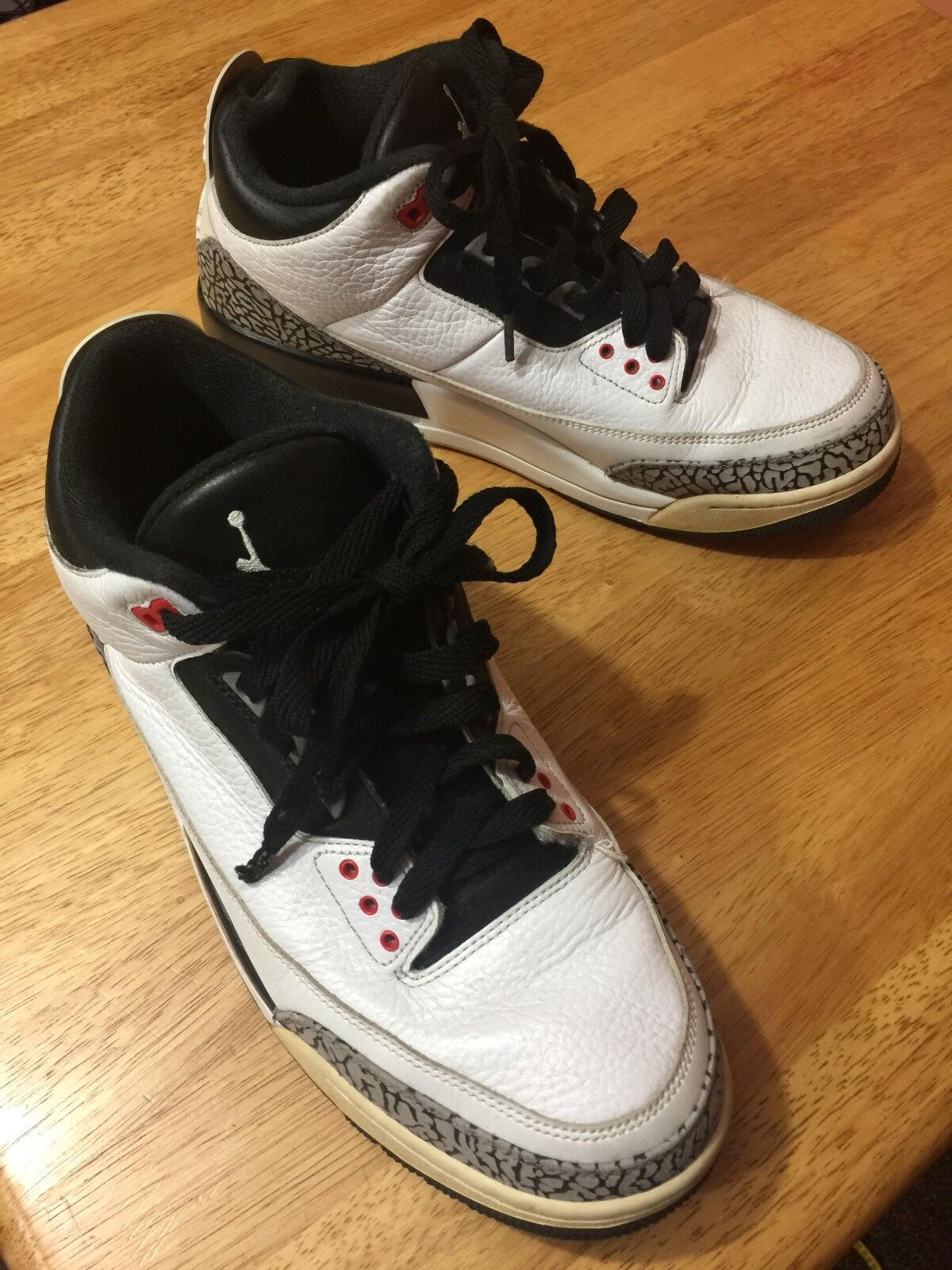 d6bba161c2 Nike Air Jordan 3 III Retro Infrared Black White Red Cement 136064-123 Size  11.5. Nike Air Max ...