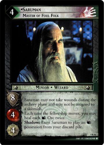 LOTR TCG Saruman Master of Foul Folk 5R56 Battle of Helm/'s Deep MINT
