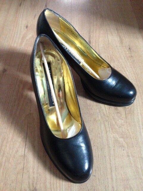 marchio in liquidazione Maud Frizon Donna Scarpe in pelle pelle pelle nera, taglia 4.5-5 UK 7.5 USA  Sito ufficiale