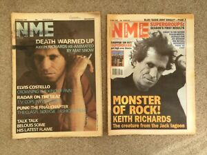 x2 NME Music Magazines 1986 and 1995 both Featuring Keith Richards