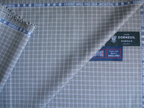 2.4 m 45/% SILK JACKETING FABRIC BY Dormeuil–MADE IN ENGLAND DORMEUIL 55/% WOOL