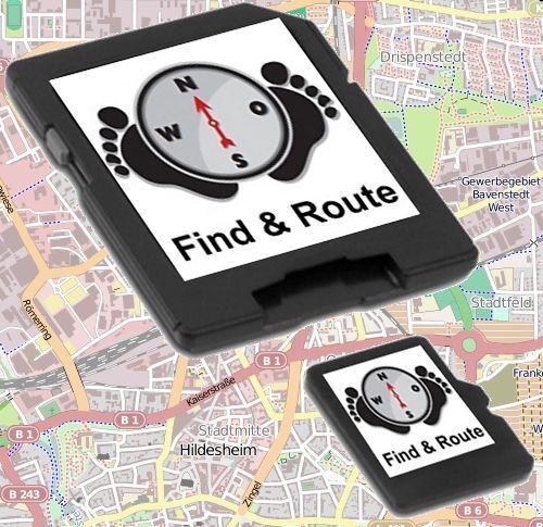 Outdoor peatones bicicleta tarjetas OSM navegación para Falk IBEX-lux y Tiger