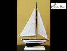 "Pacific Sailer Sloop Rig Model Sailboat (12"" L X 17"" H) - Great Gift for Men"