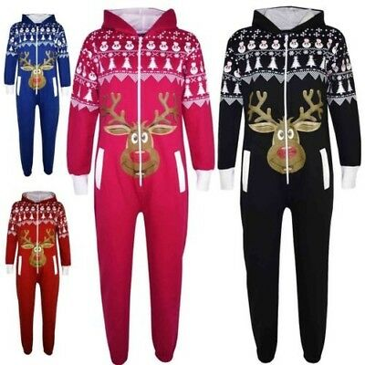 Ages 2-13 Red, 5-6 Years Onezee Childrens Boys /& Girls Novelty Christmas Hooded Fleece Jumpsuits
