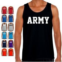Army Tank Top Pt Us Military Workout Bodybuilding Crossfit Exercise Gym T Shirt