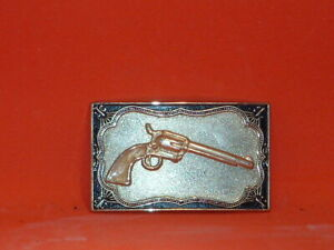 Pre-Owned-Gold-Tone-Pistol-Belt-Buckle