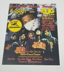 Esham - 2003 Concert Flyer Zug Izland Jumpsteady insane clown posse juggalo icp