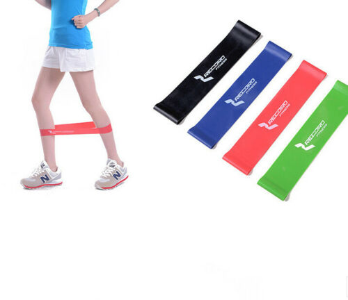 Resistance Band Loop Yoga Pilates Home GYM Fitness Exercise Workout Training Lot
