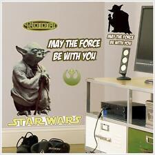 Guerra De Las Galaxias Clásico. Yoda. Gigante Pared Adhesivo Apliques. artículo oficial