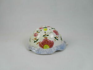 Vintage-Porcelain-Covered-Porcelain-Baby-Powder-Container-Turtle-Home-Decoration