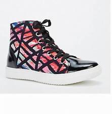 Shumaxx Ladies women's Suedette PVC Insert Trainers Shoes UK  6 EU 39