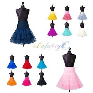 Tuellrock-Tuetue-Ballettrock-Reifrock-Petticoat-knielang-Organza-karneval-Lafairy
