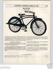 1936 PAPER AD Airflyte Bicycle Bike Super Streamlined Silver King Deluxe