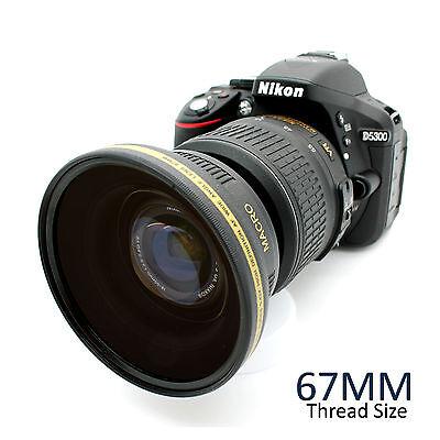 67MM HD Wide Angle Macro Lens for Canon EOS T6i T6s T5i T5 T4i T3i DSLR Camera
