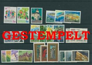 Liechtenstein-Vintage-Yearset-1989-Timbres-Used-Complet-Plus-Sh-Boutique