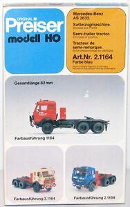 Preiser-H0-2-1164-Mercedes-Benz-AS-2632-Tete-de-tracteur-bleu