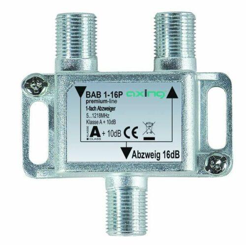 1 Stk Axing Abzweiger 1-fach 16 dB 5-1218 MHz F-Buchse premium-line BAB00116P BA