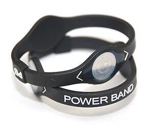 Image Is Loading 2pcs Small Black Band Ion Hologram Bracelet