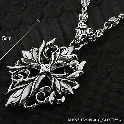 Guntwo Korean Mens Fashion Necklaces - Biker, Hip Hop Cross Necklace N0094 US
