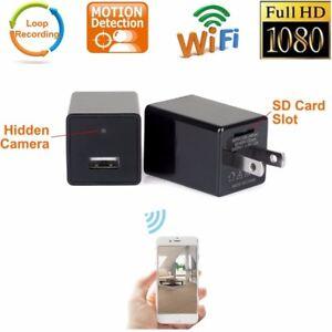 Hidden Wireless HD 1080P USB Spy Camera WiFi Monitoring Motion Detection Phone