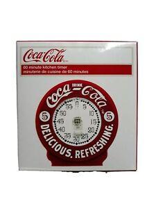 Red-amp-White-Coca-Cola-Coke-Kitchen-60-minute-Timer-NEW-IN-BOX
