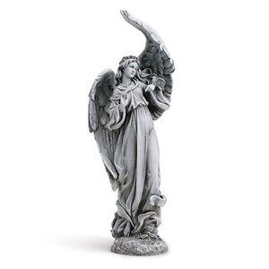 Image Is Loading Angel Praying Garden Statue W Birds Memorial Gift