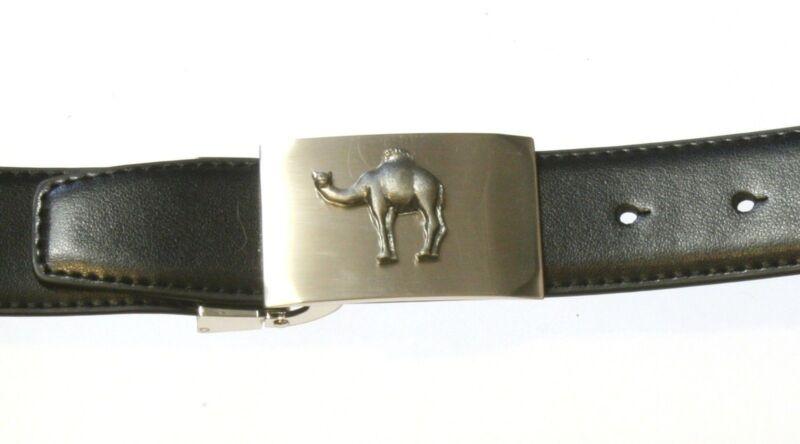 Camel Belt Buckle And Leather Belt Pewter Emblem Gift Set In Presentation Tin 54