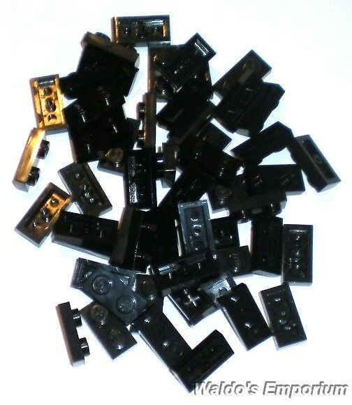Black Plate 1 x 2 Qty x 50 Bulk Lot Lego Part No.3023