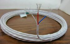 10 feet 22 AWG Silver Plated Wire 3 Twisted 19 strand