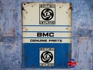 BMC Austin Mini Morris Maxi Metro Allegro Small Tin Sign - Dad Car Gift