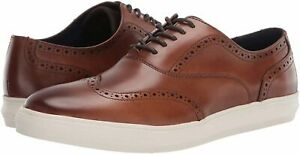 Kenneth-Cole-REACTION-Men-039-s-Reem-Wing-Tip-Lace-Up-Oxford-Cognac-Size-11-5