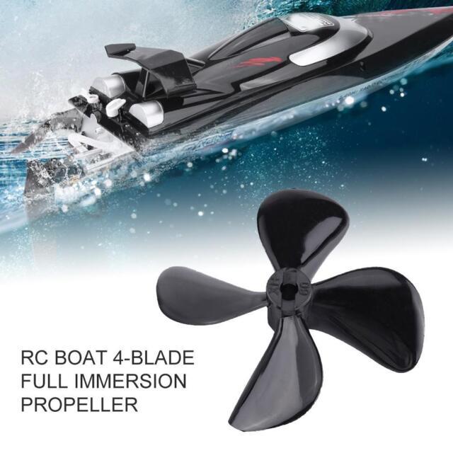 2pcs Zinc Alloy 4-Blade CW /& CCW 4MM 60MM Propeller Shaft Prop for RC Bait Boat