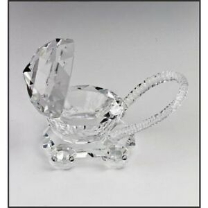 Babies LARGE Crystal Pram,Pusher,Stroller, Christening,Baby Shower, Newborn Gift