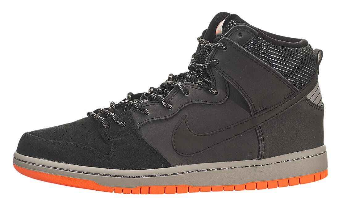 The latest discount shoes for men and women Nike DUNK HIGH PRM SHIELD Black Reflective Silver Medium Grey Discount Price reduction Men